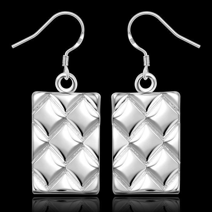 Earrings Silver Plated Earrings Silver Trendy Jewelry Earrings Pineapple Weave Jewelry Wholesale Free Shipping aqyt LE376