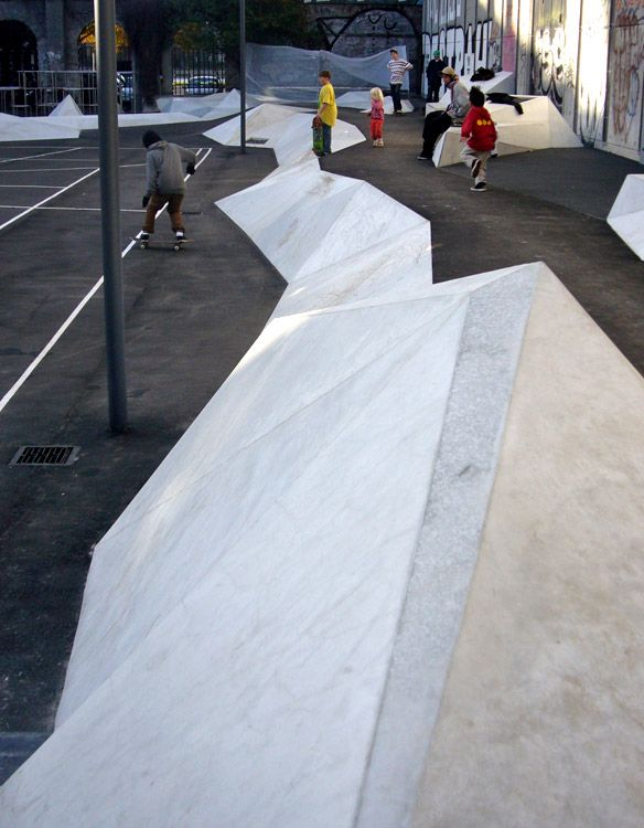 Reminds me of an iceberg -- and iceberg themed public space would be fun! Charlotte Ammundsens Plads by 1:1  Landskab