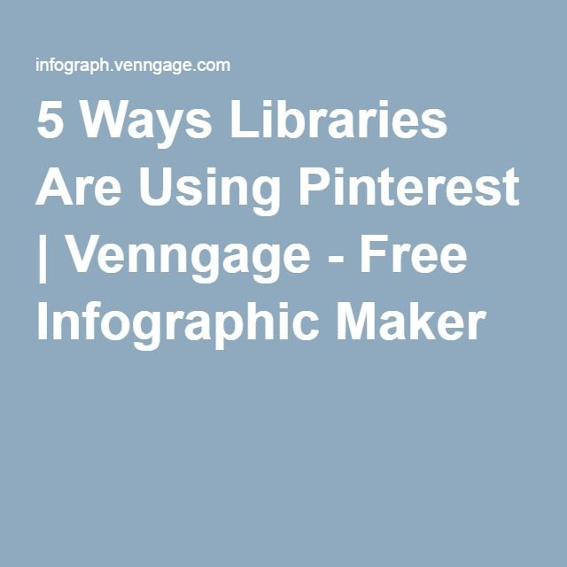 5 Ways Libraries Are Using Pinterest | Venngage - Free Infographic Maker