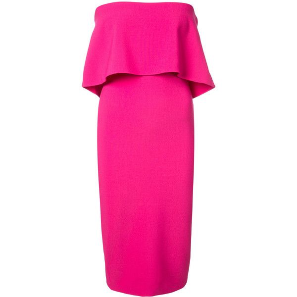 Likely top detail bodycon dress ($285) ❤ liked on Polyvore featuring dresses, pink, body con dress, fuchsia cocktail dress, fuschia cocktail dress, pink dress and fuschia dress