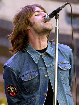 Liam Gallagher of Oasis, Performing at the Reebok Stadium in Bolton, July 2000