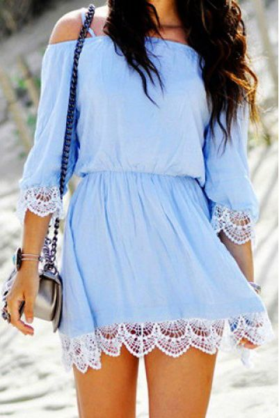 baby blue dress | @andwhatelse
