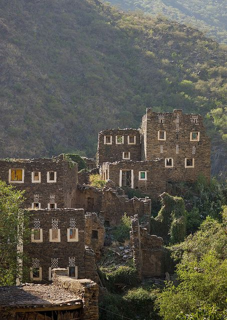 Rijal Alma village  - Saudi Arabia by Eric Lafforgue, via Flickr