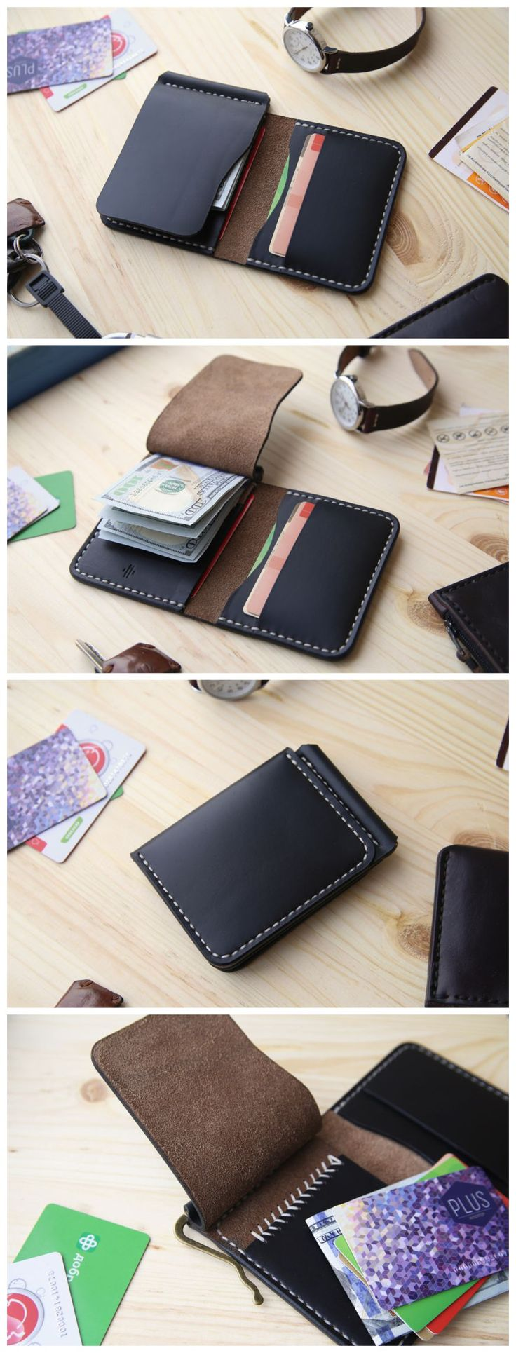 Horween Chromexcel Money Clip Wallet, Mens Leather Money Clip Wallet, Mens Leather Bifold Wallet #accessories #wallet #leather #horween #horweenwallet #chromexcel #moneyclip #moneyclipwallet #handmade #leathergoods #everydaycary #handcraft #handstitched #leathercraft #bifoldwallet #bifold #cardholder #cardwallet