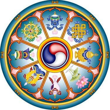 Os oito símbolos auspiciosos do budismo   Sobre Budismo                                                                                                                                                     Mais