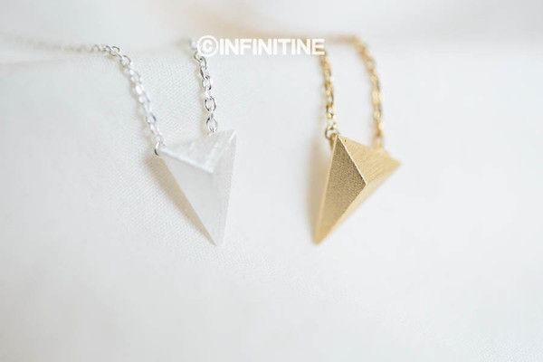 convex triangle necklace,N602K