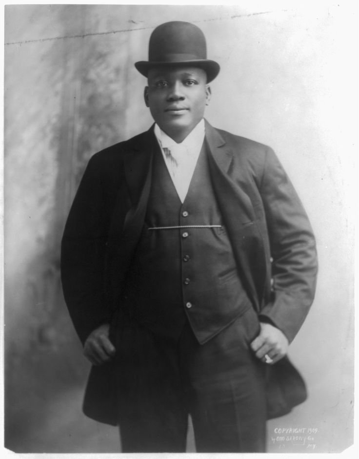 Jack Johnson the first African American world heavyweight boxing champion 1908