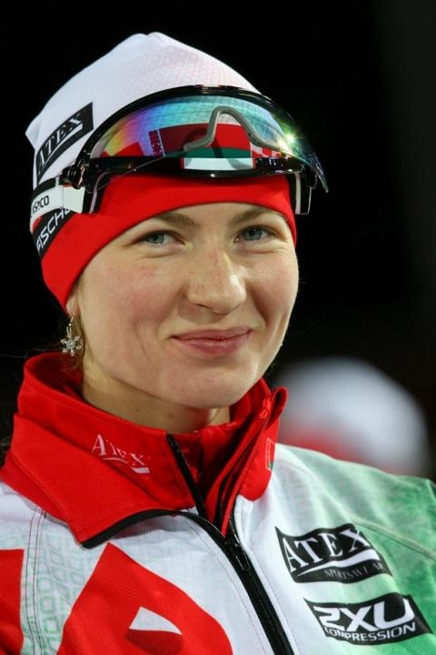 Darya Domracheva - World Champion in Biathlon.  Olympics medal winner and 2012 Olympics participant.  BELARUS