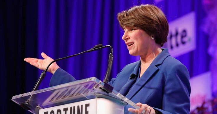 """Sen. Amy Klobuchar sounded off on social media and bots on """"Meet the Press."""" Bots on Facebook are like """"toxic waste"""" being..."""