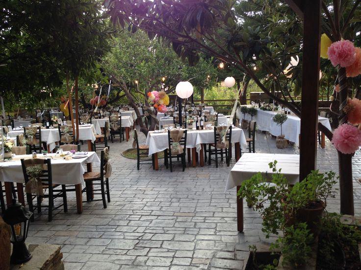 Garden wedding in Naxos Greece by islandevents.gr