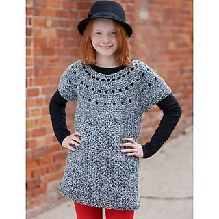 Sweater Knitting Pattern Generator : Girls tunic - free crochet pattern (sizes 4T-12) CrochetHolic - Hilari...