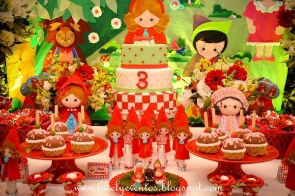 decoracao festa chapeuzinho vermelho