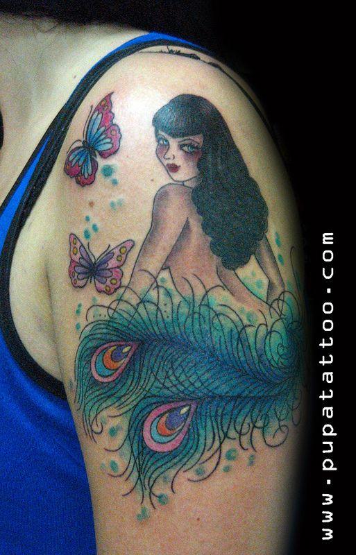Tatuaje Pin Up Pupa Tattoo, Granada