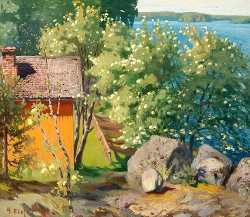 Helmi Biese (Finnish) 1867-1933 Sunny day in June