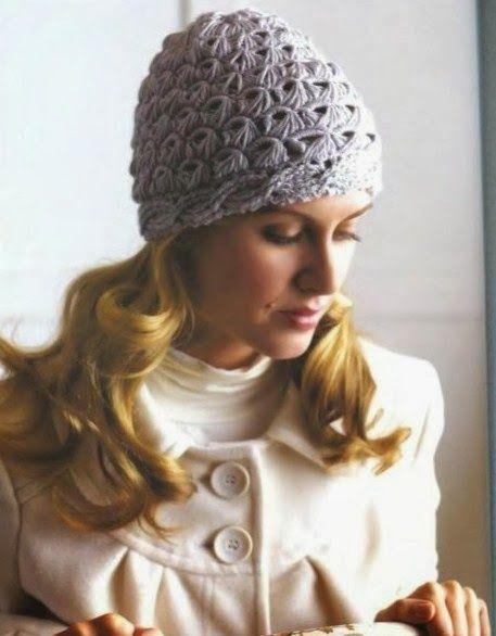 Gorro Punto Escoba Crochet Patrones - Patrones Crochet