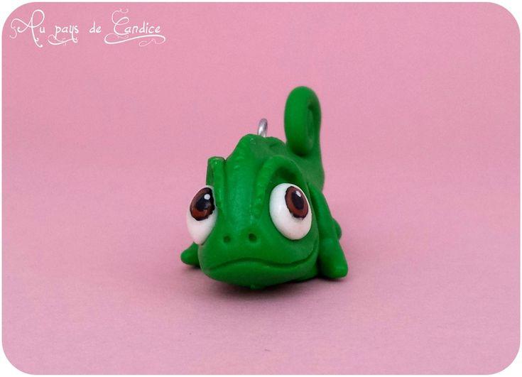 Pascal, le caméléon de Raiponce en fimo