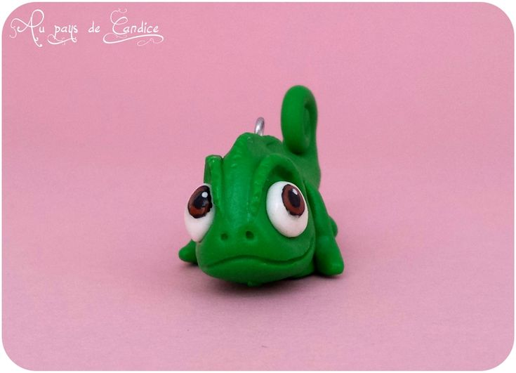 Pascal le cam l on de raiponce en fimo crafts diy - Raiponce cameleon ...