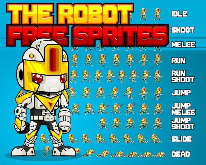 robot mech free sprites