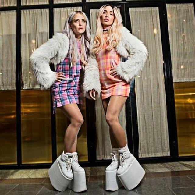 Rebecca & Fiona @rebeccafiona | #edm #female_djs buffalo tower shooes