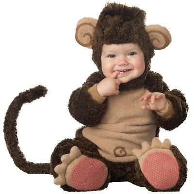 Elite Collection Lil' Monkey Infant / Baby Halloween Costume