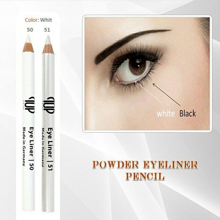 كحل قلم ناشف من توب كلر قلم كحل ابيض للعين صناعه المانيه طبي لايسبب الحساسيه سهل الاستخدام النهايه مطفيه اللو Eyeliner Pencil Eyeliner Make Up