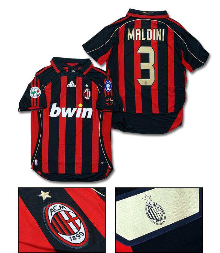 【No.3 MALDINI 】 adidas 06/07 ACミラン ホーム 半袖 ユニフォーム