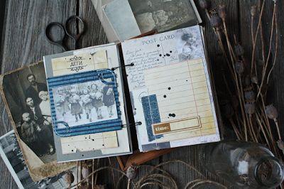 Семейный альбом, блокнот для записи историй и информации #heritage #scrapbook #scrapbooking #семейныйархив #семейныйальбом #меморабилия #эфемеры #штампы #штампыдляскрапбукинга