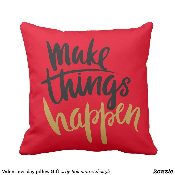 Valentines day pillow Gift for her wife red
