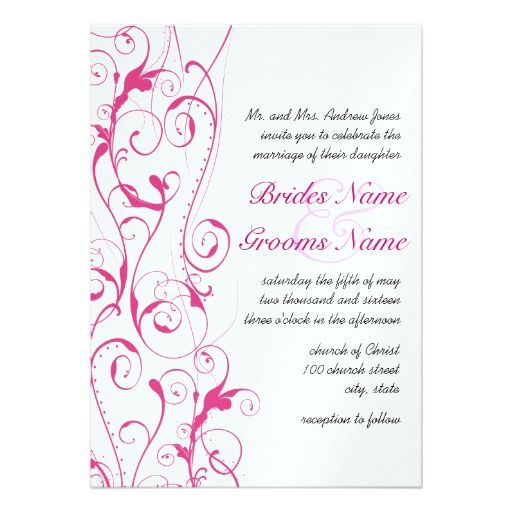 Pink Swirls Wedding Invitations In Our Offer Link Above You Will  SeeReviewOnline Secure Check Out Quick