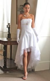 #Sexy#White#Hi-Lo#Gown