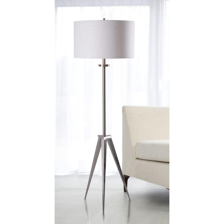 Caperana 1 light steel floor lamp overstock shopping great deals on design
