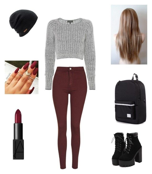 Untitled #11 by itslacybabe on Polyvore featuring polyvore, fashion, style, rag & bone, Topshop, Herschel Supply Co., Coal and NARS Cosmetics