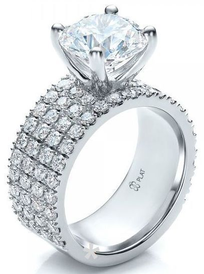 Custom Diamond Engagement Ring, Platinum 14kt and 18kt, designed for a client by Joseph Jewelry #diamondjewelry