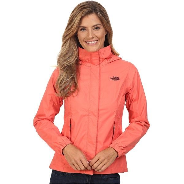 The North Face Resolve Jacket (Spiced Coral (Prior Season)) ($55) ❤ liked on Polyvore featuring orange and the north face