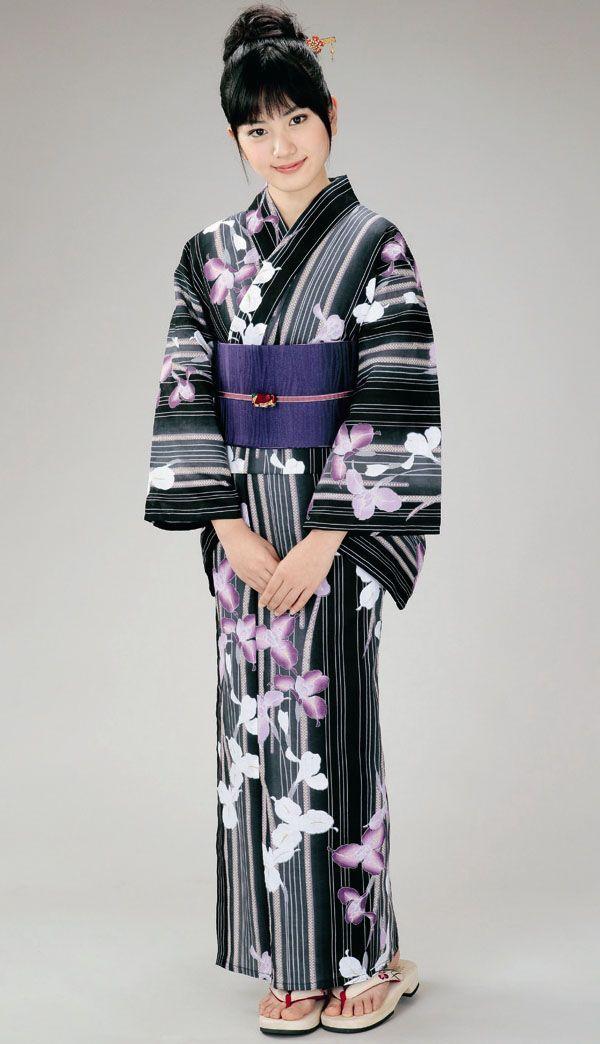 H-L design cotton yukata.