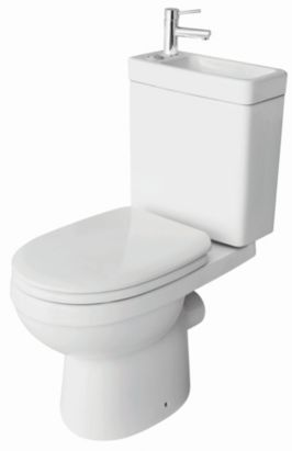 Cooke & Lewis Duetto White Toilet & Basin £199.00