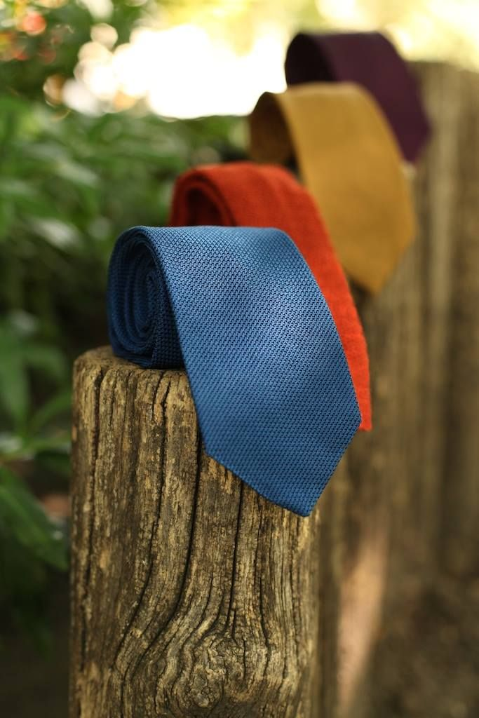 Textured silk can add an earthy touch to your summer wardrobe. Try our knitted and woven ties from Drake's London - elegant with a touch of the wild!