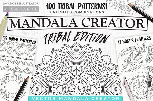 Tribal Mandala Creator by everdrifter on @creativemarket