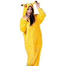 Hot Anime Cosplay Pokemon Pikachu Sleepwear Regino Knitting Adult Footed Girls…
