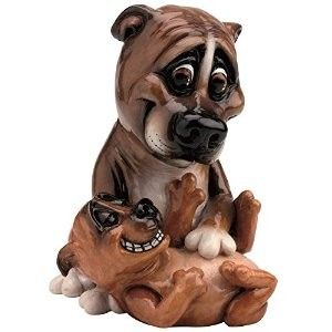 Pets With Personality - Staffy & Pup 5510 Available @ Li'l Treasures $68. (International Shipping available)