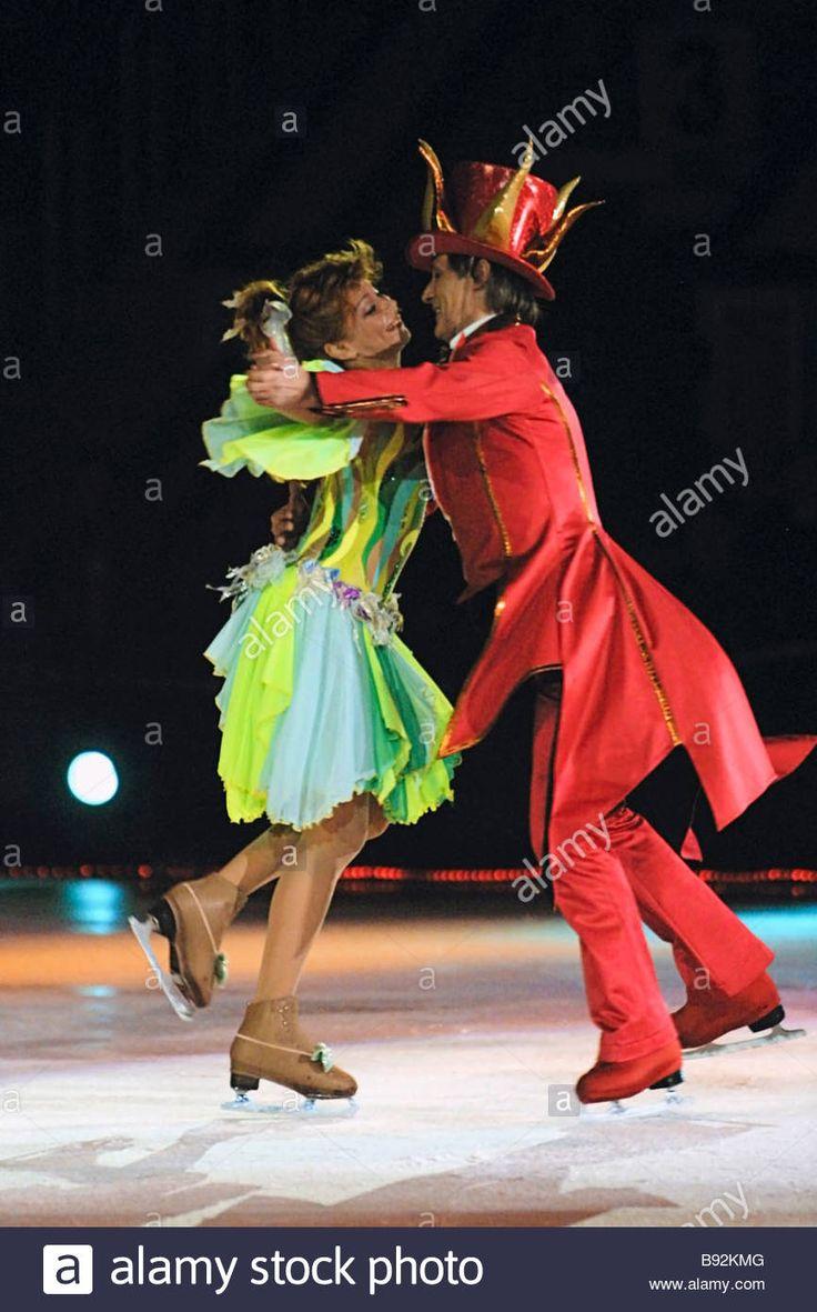 Olympic champion Natalya Bestemyanova performing as Cinderella and her husband Russian famous figure skater Igor Bobrin.