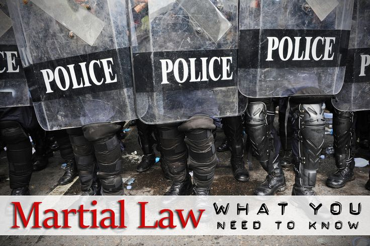 1. What is Martial Law? 2. What Could Trigger Martial Law? 3. Life Under Martial Law 4. History of Martial Law 5. Chance of Martial Law Today? 6. How to Prepare for Martial Law? 7. How to Get Through Martial Law?  What Is The Definition Of Martial Law? What is the first thing that ...