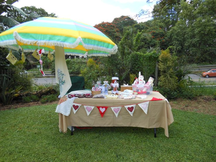 Our very first market at Kloof Country Fair in Feb 2013.  Only about 5 stalls at the market and how small our table looks!  But one has to start somewhere!
