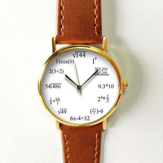 Watch formule Math, équation montre, montre en cuir de Style Vintage, femmes montres, Regardez le Mens Watch, unisexe, copain,