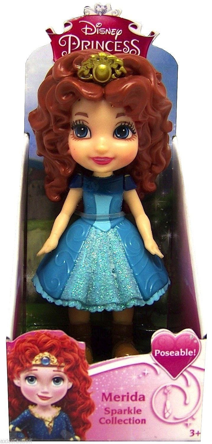 Amazon Com Disney Princess Poseable Merida Sparkle