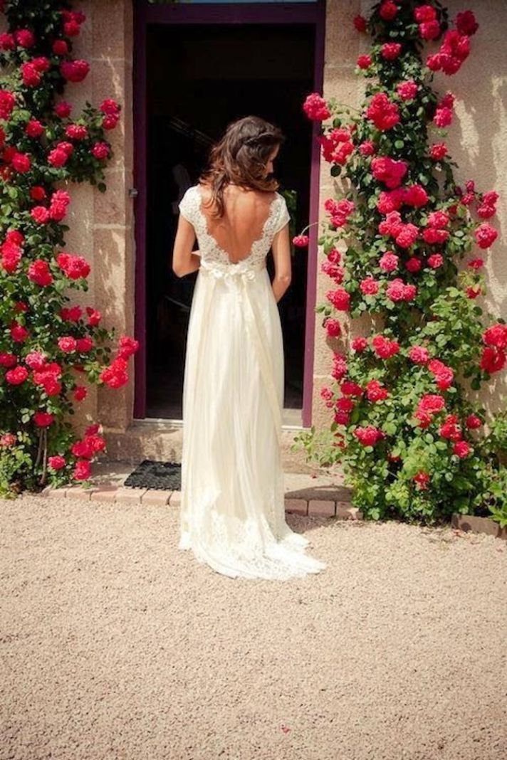 Spring wedding gown by Claire Pettibone