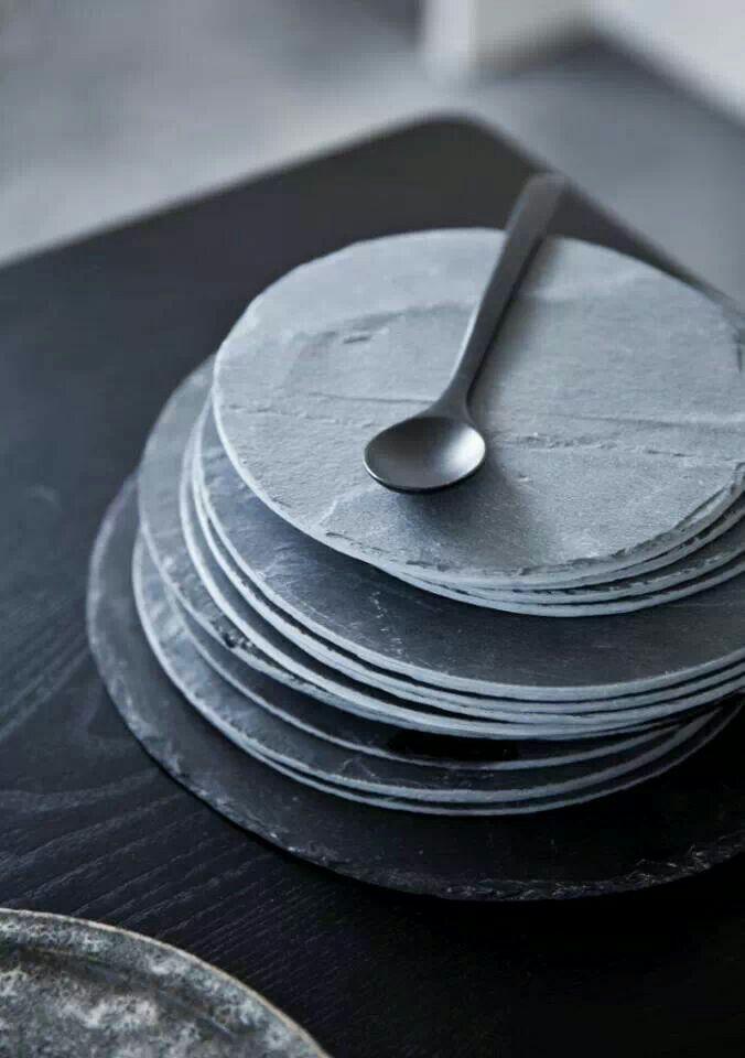 @pehrdesigns #pehrdreamtablescape Flat slate looking plates