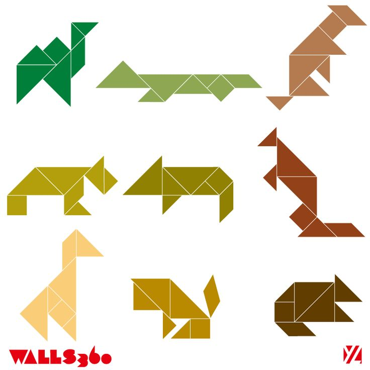 tangram animals: Math, Tangram Animals, Animal Tangrams, 6 Tangram