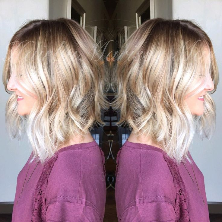 julianna hough inspired a-line bob// rooty platinum color #hairbymarissamae