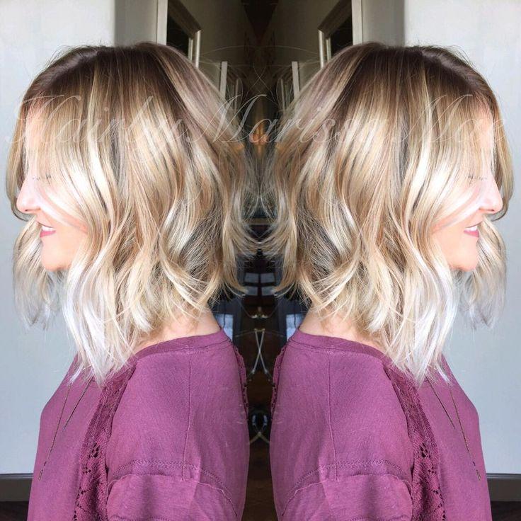 julianna hough inspired a-line bob// rooty platinum color #hairbymarissamae